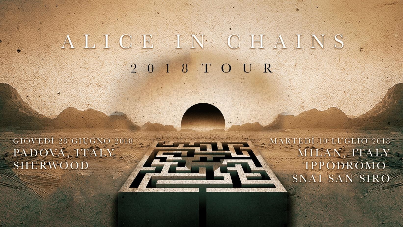 Alice in Chains a Milano Ippodromo Snai – San Siro