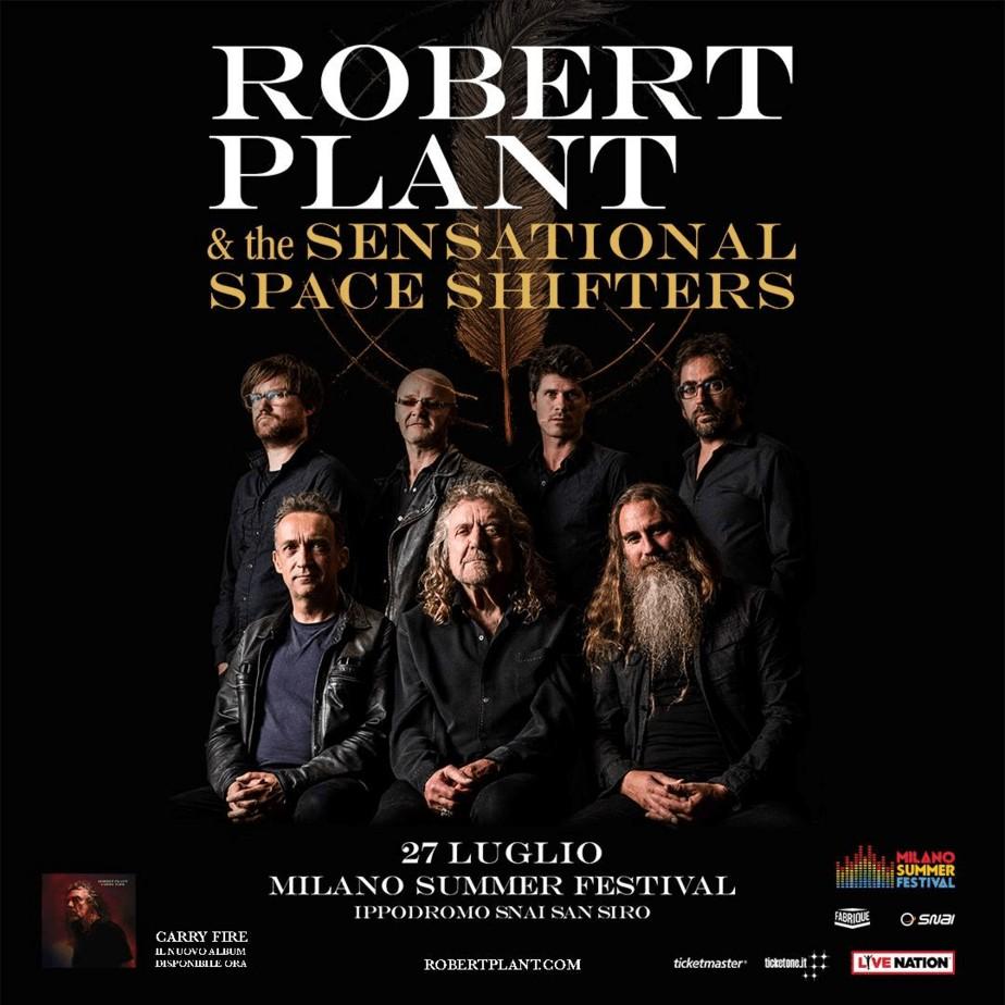 ROBERT PLANT A SAN SIRO 27 LUGLIO 2018